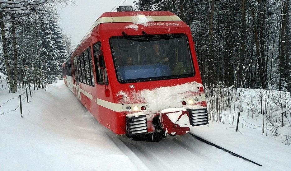 vallorcine train_in_snow